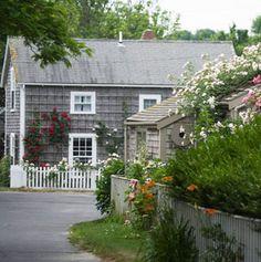 Center Street in 'Sconset, on  Nantucket Island, Massachusetts.