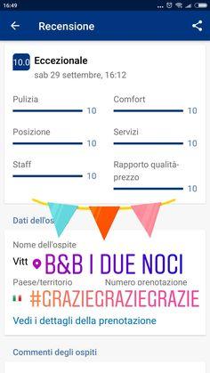 #ospitifelici in #bedandbreakfast a #iduenoci 😍 Grazie, grazie, grazie 🙏 #recensione #review #runabedandbreakfast #bnbmentor