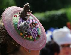 Royal Ascot 2015 in Berkshire. A teddy bears' picnic hat