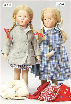 KÄTHE KRUSE, girl, 50 cm, plastic head, tricot body, '50s, used, original…
