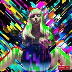 Gaga Art Pop GIF Glitch RMX by Ctrl Alt Design