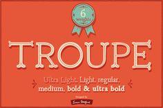 Troupe font by It's me simon on Creative Market