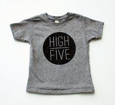 High Five tshirt enfant main imprimé par EarthCadets sur Etsy, $25.00