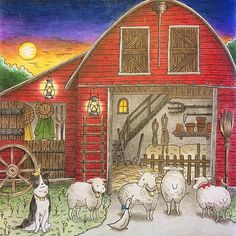 Romantic Country Coloring Book --> For the top adult coloring books and writing utensils including colored pencils, gel pens, watercolors and drawing markers, go to our website at http://ColoringToolkit.com. Color... Relax... Chill.