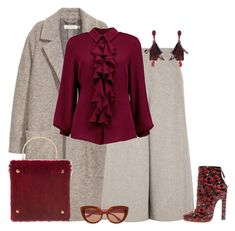 """outfit 5033"" by natalyag ❤ liked on Polyvore featuring Vanessa Seward, Boohoo and Oscar de la Renta"