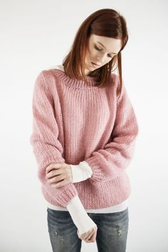 The perfect cozy swater | Jersey Oversized en rosa | Knitwear | SYSTEM ACTION