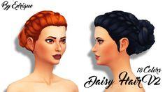 """enriques4: """" Daisy Hair V2 Hola! Aqui les traigo un nuevo cabello, esta vez la V2 de Cabello Daisy, espero que les guste! No necesitas la malla, esta es una nueva :D Base Game Compatible..."""
