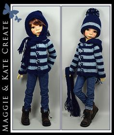 """Back to School Outfit for Kaye Wiggs 18"""" BOY Maurice MSD BJD by Maggie & Kate"""