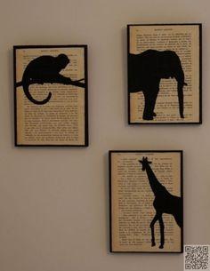 47. plus Wall Art - #Bonjour, Bookworm ! 48 #projets de bricolage…