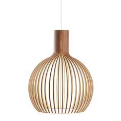 Scandinavian design.Octo 4240 Pendel Lampe Valnød  - Secto design.