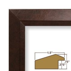 20x21 custom picture frame poster frame 15 wide complete brown executive leather frame