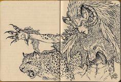 Sketchbook - Weird Goat-Wolf-Leopard Dude by ToPpeRa-TPR on deviantART