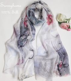 Cheap scarf shawl, Buy Quality lenco feminino directly from China summer shawl Suppliers: Pashiminas feminino White 100% silk lencos femininos para pescoco genuine Chinese wind super summer air conditioning Scarf Shawl