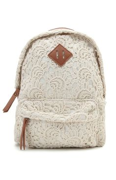 Super cute bag for school or just to have wow love all the lace vintage I love it