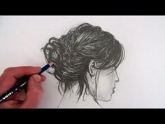 How to Draw Hair: Messy Bun - YouTube