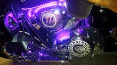 The Adventures of Stormy and her bike with bling at night