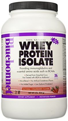 Bluebonnet's Whey Protein Isolate is sourced from grass-fed cows that are not treated with antibiotics or recombinant bovine grow. Best Weight Loss Supplement, Weight Loss Supplements, Natural Whey Protein, Whey Protein Isolate, Growth Hormone, Mixed Berries, Blue Bonnets, Sports Nutrition, Chocolate Flavors