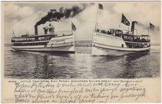 Postcard Little Traverse Bay Ferry Steamers in Michigan~95599