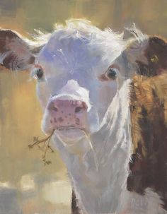 Lunch Break( Honorable Mention, Salon International Greenhouse Gallery of Fine Art) by Daria Shachmut, Oil, 18 x 14 Cow Painting, Painting & Drawing, Cow Pictures, Cow Art, Art For Art Sake, Wildlife Art, Animal Paintings, Pet Portraits, Farm Animals