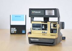 Rare Gold Polaroid Spirit 600 Camera with Impossible Project