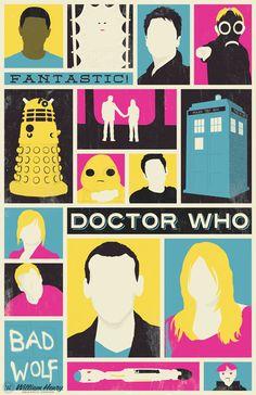 Doctor Who - The Ninth Doctor poster by billpyle.deviantart.com on @DeviantArt
