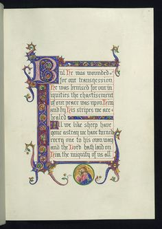 Illuminated Manuscript, Chapter 53 of the Book of Isaiah, Good shepherd, Walters Manuscript W.842, fol. 4r by Walters Art Museum Illuminated Manuscripts, via Flickr [pby]