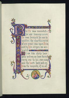 Illuminated Manuscript, Chapter 53 of the Book of Isaiah, Good shepherd, Walters Manuscript W.842, fol. 4r by Walters Art Museum Illuminated Manuscripts, via Flickr [pby]