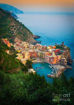 Cinque Terre Photograph - Vernazza From Above by Inge Johnsson