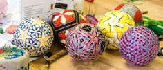 Japanese Temari Balls, these are really pretty