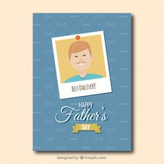 #Father'sday #greeting #card #Free #Vector