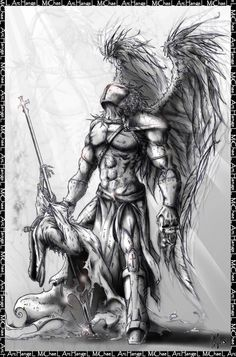 Warrior Archangel Michael Tattoo Design