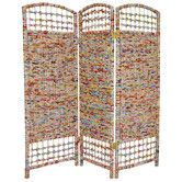 """Found it at Wayfair - 48"""" Recycled Magazine 3 Panel Room Divider"""