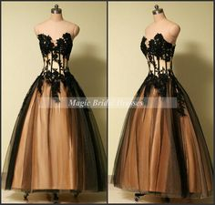 Classic Prom Dress 2015 off the shoulder Princess Ball Gown Sexy Black Sheer Tulle with Lace Appliques Floor-length Long from MagicBridalDresses on Etsy.