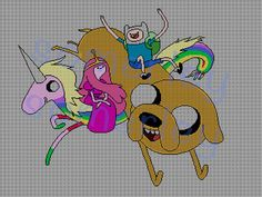 Adventure Time cross stitch pattern by somerley on Etsy, $2.50