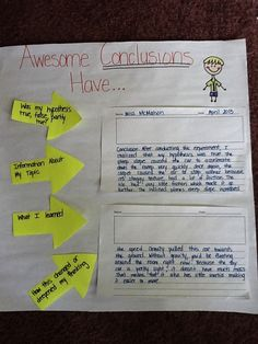 Good visual for teaching kids to write valid conclusions.