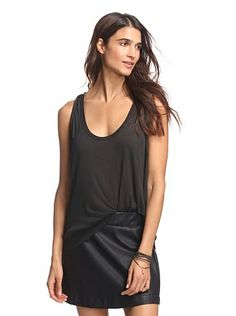 American Vintage Women's Ribbed Tank - Carbon