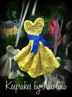 Personalized Gown Ornament by KeepsakesByNicolina on Etsy, $12.00