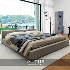 Kubic 24 bed, designed by Roberto Gobbo for Désirée, made in Italy. www.Altus.me #interiordesign #luxury #furniture #design #interiors #bed #bedroom #madeinitaly #designer