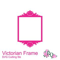 Victorian vintage wedding props frame silhouettes SVG Cutting
