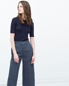 ZARA - COLLECTION AW15 - SHORT SLEEVE KNIT SWEATER