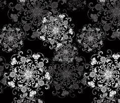 Oriental black fabric by lalaboyz on Spoonflower - custom fabric
