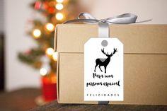 Tag para regalos de Navidad