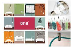New Collection de Ona, una divertida forma de iluminar con bombillas y cables de colores