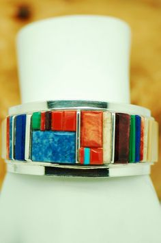 Harold Smith Inlaid Bracelet | Native American Inlaid Jewelry | Turquoise Native American Jewelry