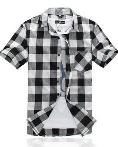 Image Is Loading 7 Diamonds Shirt Mens Medium Black White Plaid