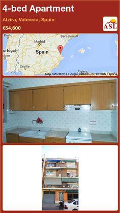4-bed Apartment in Alzira, Valencia, Spain ►€54,600 #PropertyForSaleInSpain