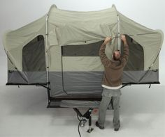 Lifetime Sahara Deluxe Utility Tent Trailer w/Ramp and Spare Tire