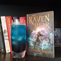 #Cocktail for #Booktails #review of The Raven Heir by Stephanie Burgis Blue Curacao, Just She, Book Summaries, The Heirs, Raven, Cocktails, Triplets, Books, Inspiration