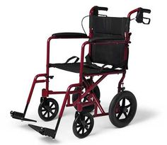 Medline Aluminum Transport Chair with Wheels, Blue: This ultra lightweight transport wheelchair weighs only pounds. The rear handles fold down for easy transportation. Portable Wheelchair, Transport Wheelchair, Lightweight Wheelchair, Transport Chair, Manual Wheelchair, Sales And Marketing, Cool Chairs, Transportation, Chairs