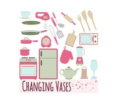 Kitchen Clipart Clip Art Graphics Kitchen by ChangingVases on Etsy